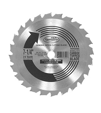 "Thin Kerf Atb Grind Carbide Tipped 5/8"" Arbor With Diamond Knockout"