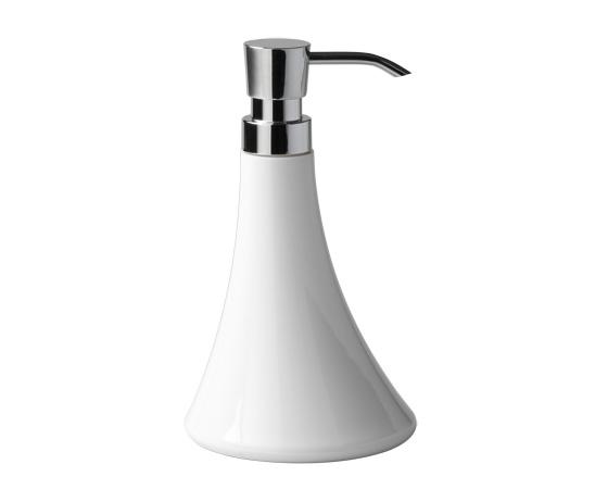 FLOU Soap dispenser with chromed plastic dispenser_11x19cm
