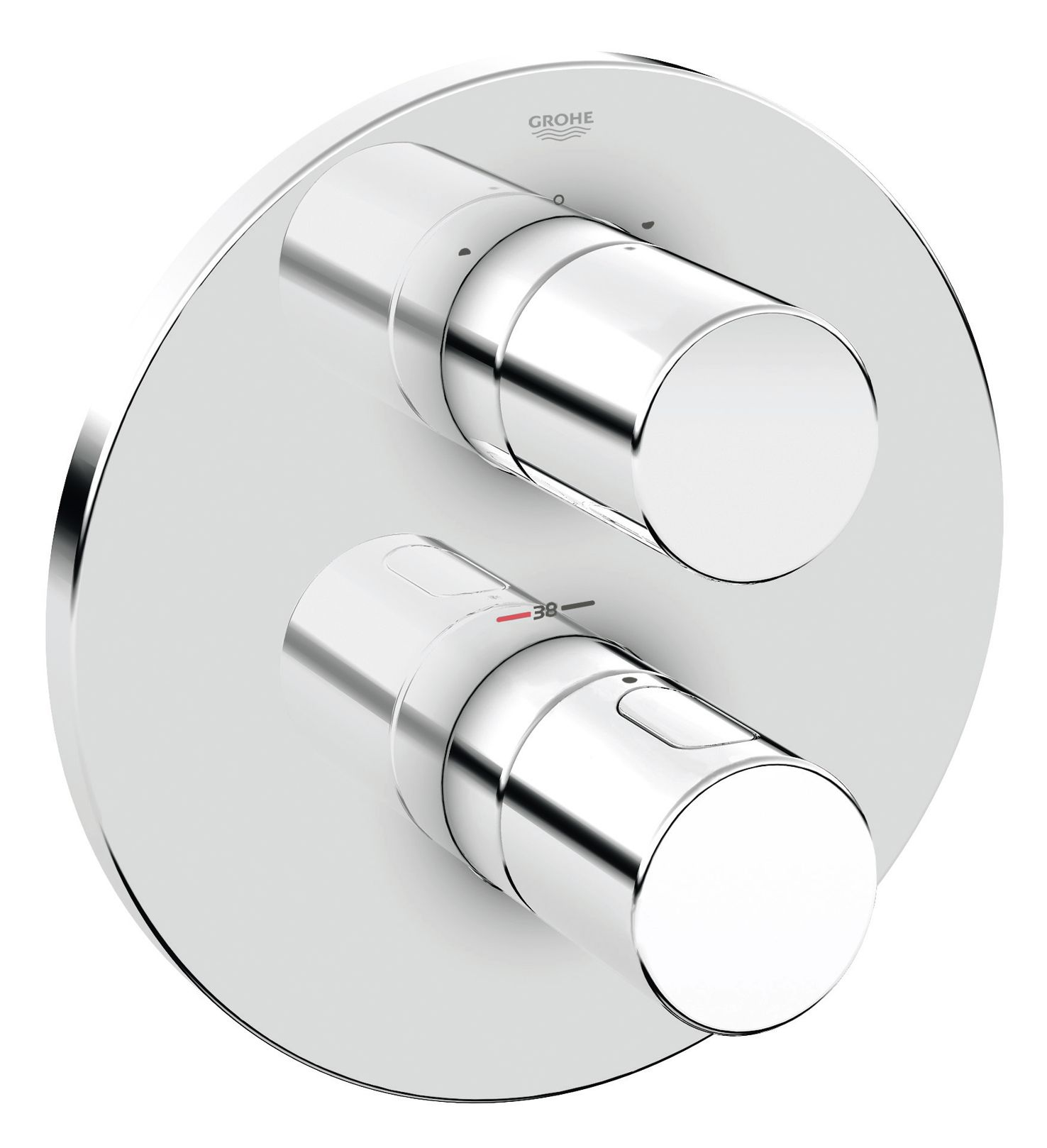 Grohtherm 3000 Cosmopolitan Thermostat with integrated 2-way diverter for bath or shower with more than one outlet