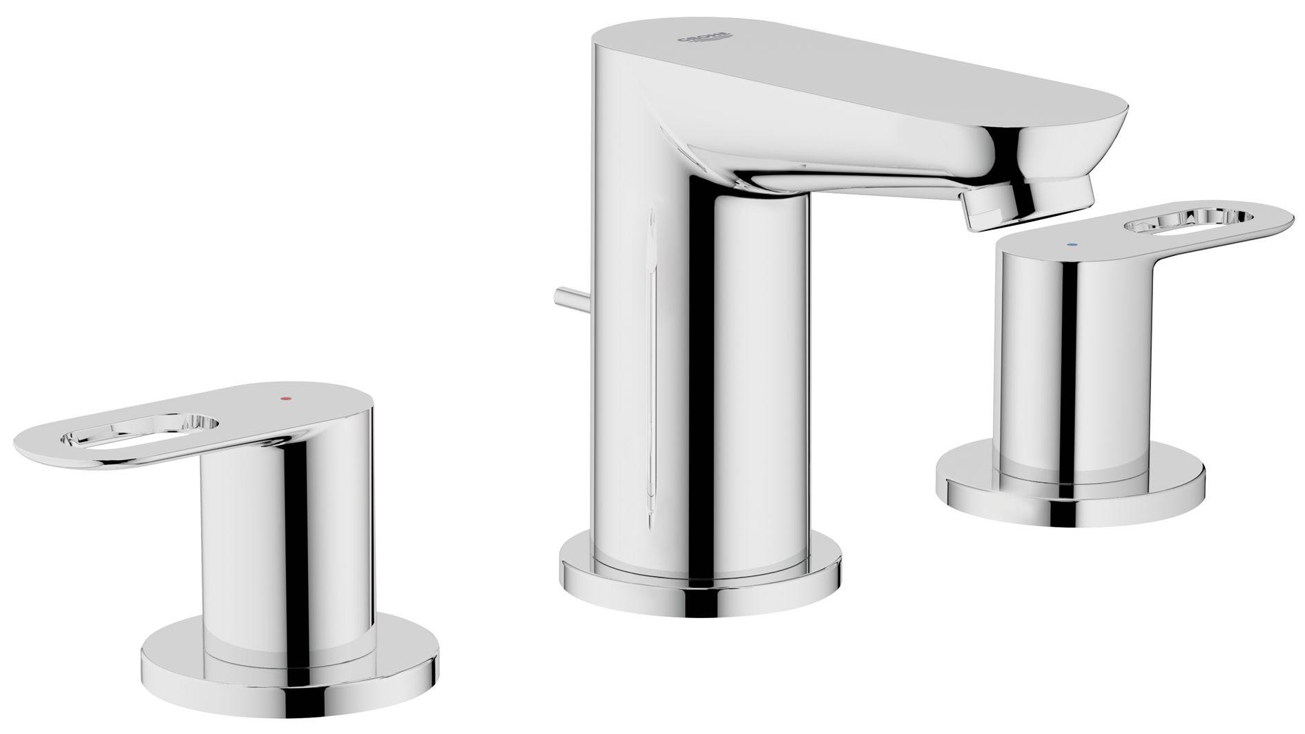 BauLoop 3-hole basin mixer