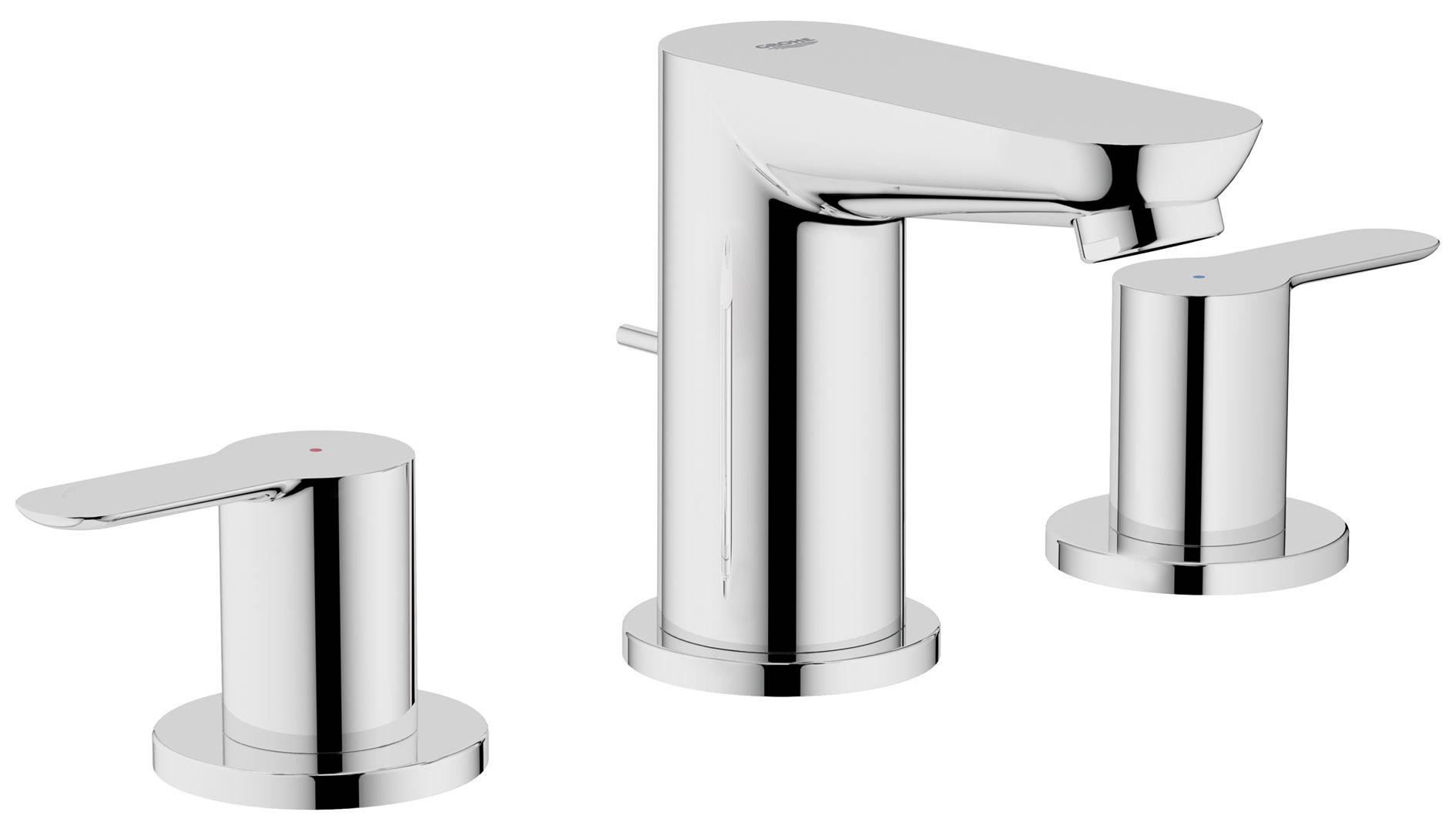 BauEdge 3-hole basin mixer