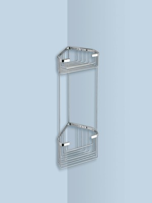 Wire corner shelf for shower_20x15x32.8cm
