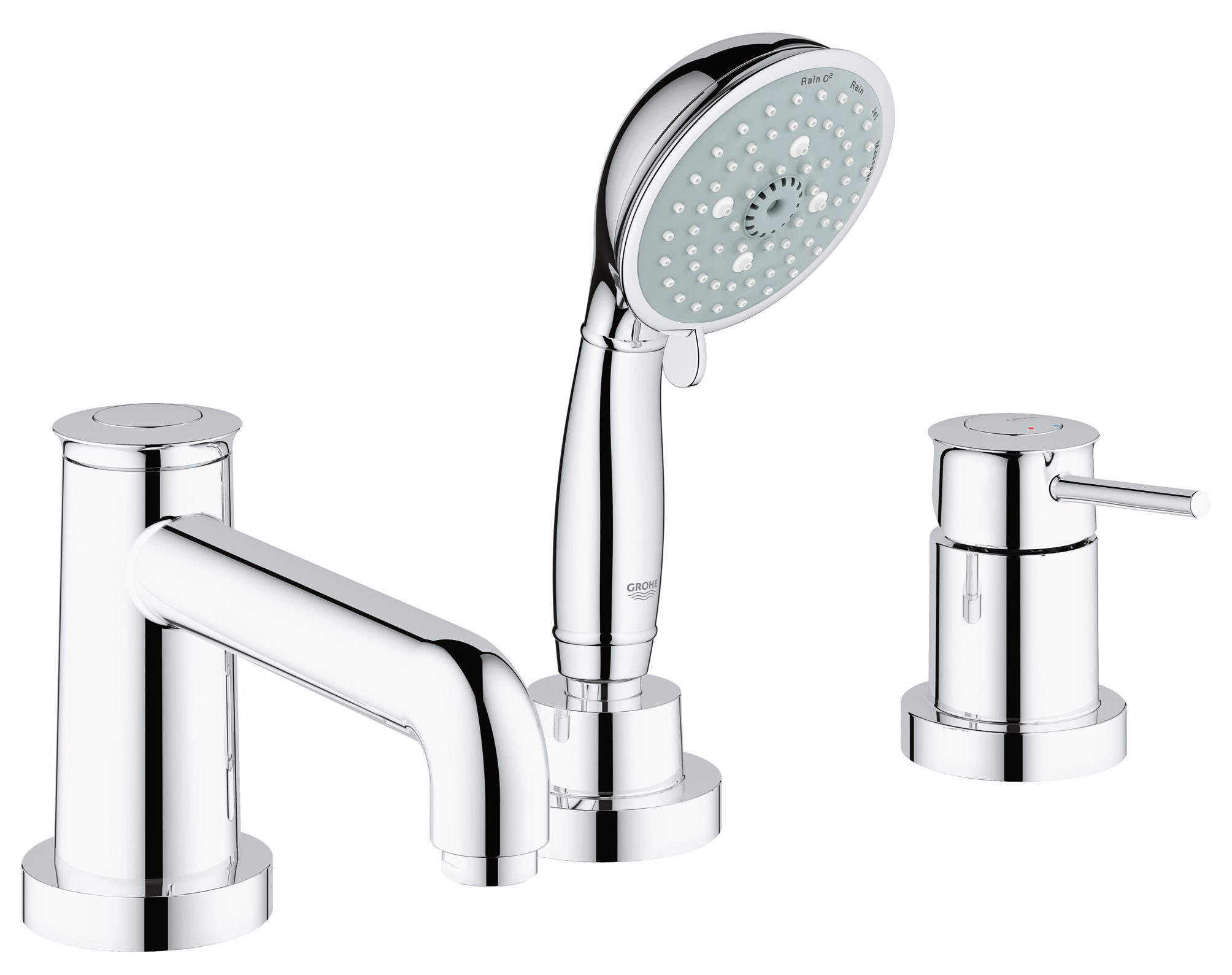 BauClassic 3-hole bath combination