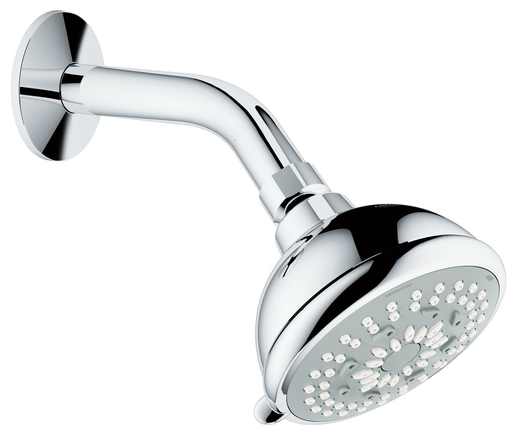 BauContemporary 90 Head shower set 3 sprays