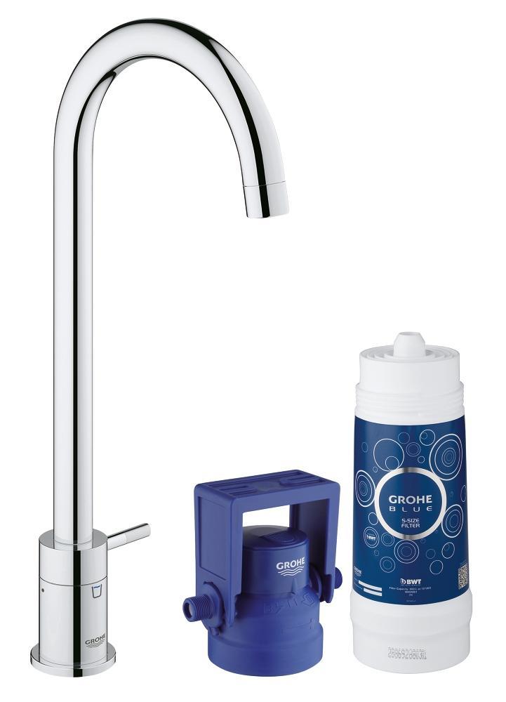 Blue Pure Pillar Tap Sink