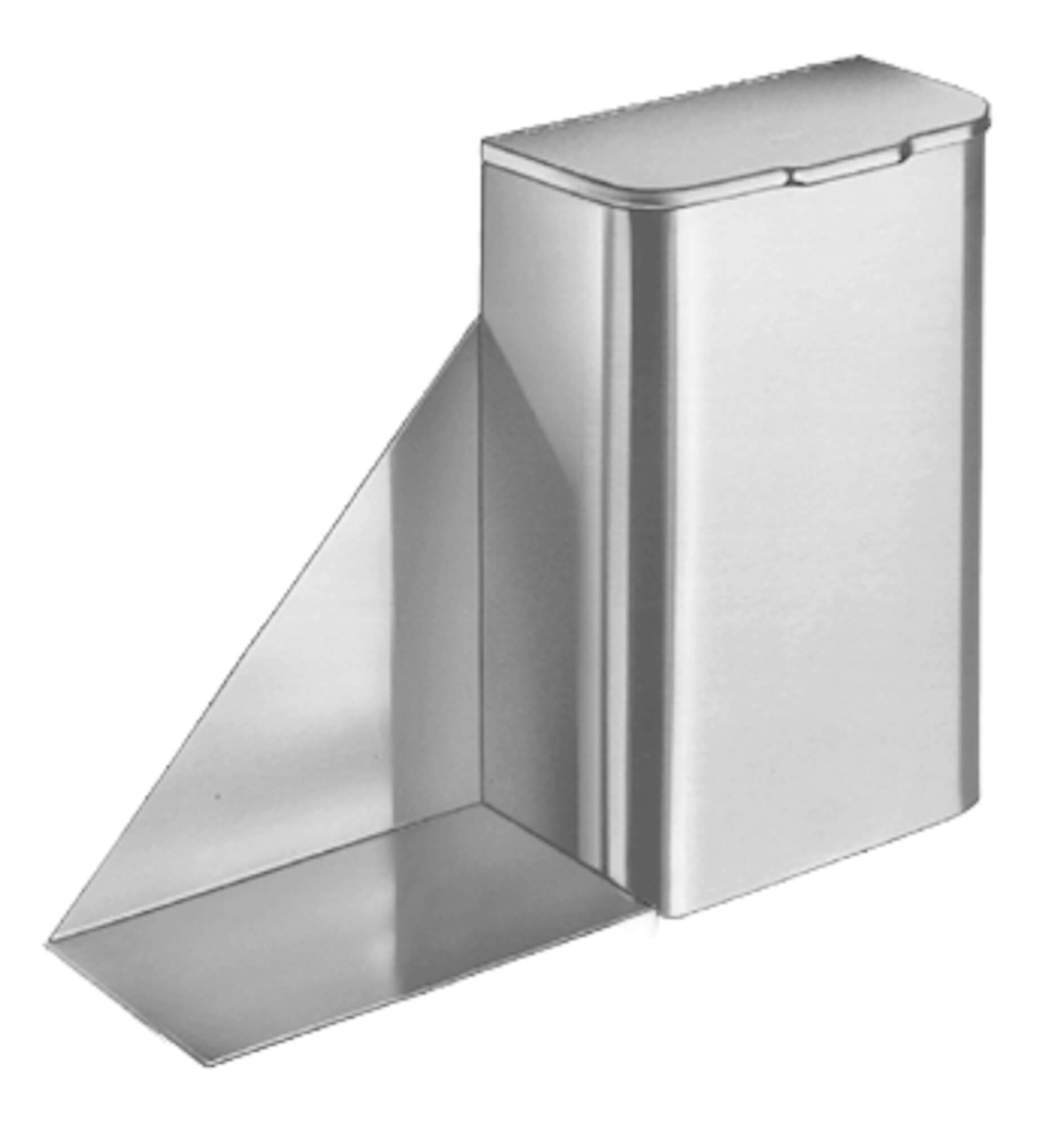 Napkin Disposal and Shelf - Surface Mounted
