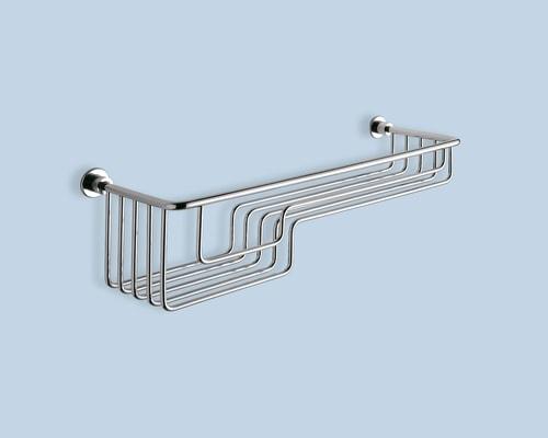 Wire bath trinket / sponge-tray with two depths 42.5 x 13 x 11.5 cm