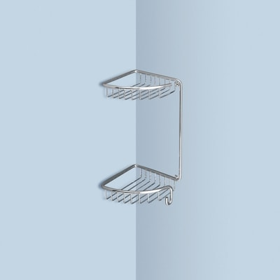 Wire corner shelf for shower 17.3x17.3x34.5cm