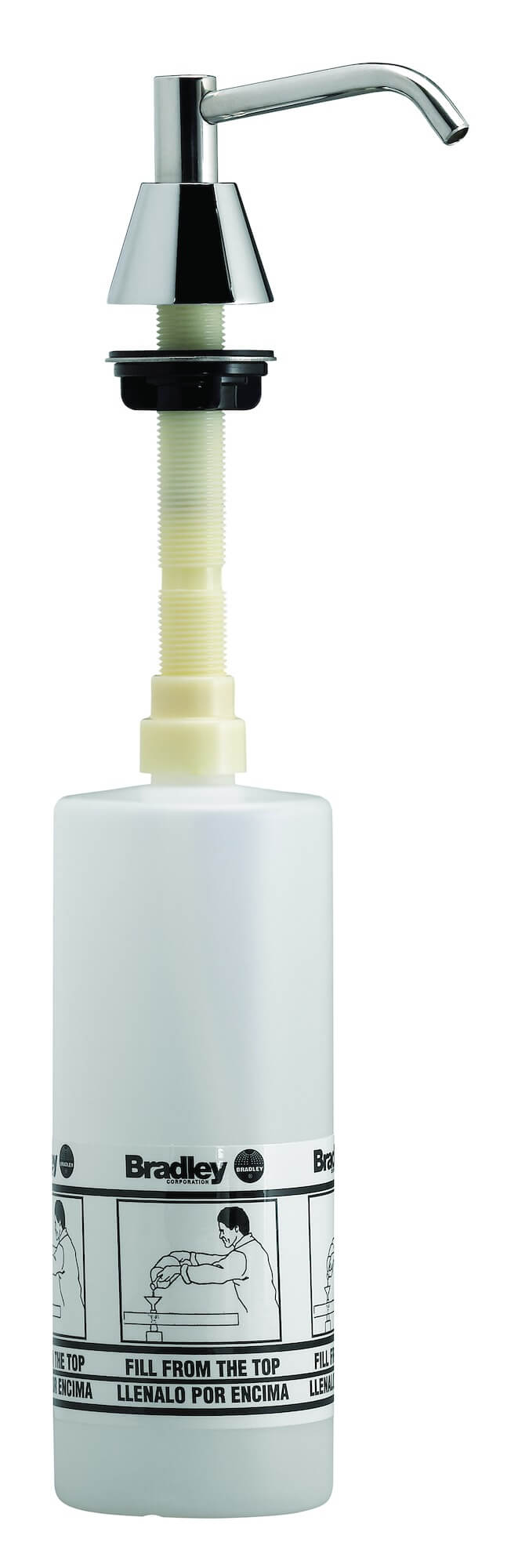 Spout Pump Liquid Soap Dispenser (4_ Spout, 32oz cap.)
