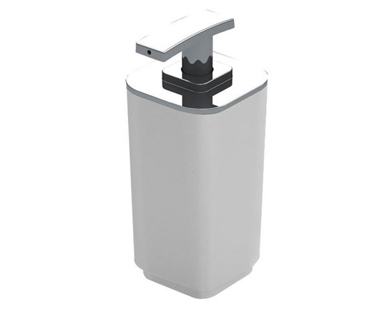 SEVENTY Soap dispenser with chromed plastic dispenser 6.5x6.5x16cm