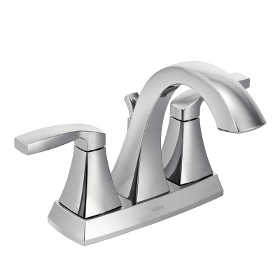 Voss Chrome Two-Handle High Arc Bathroom Faucet