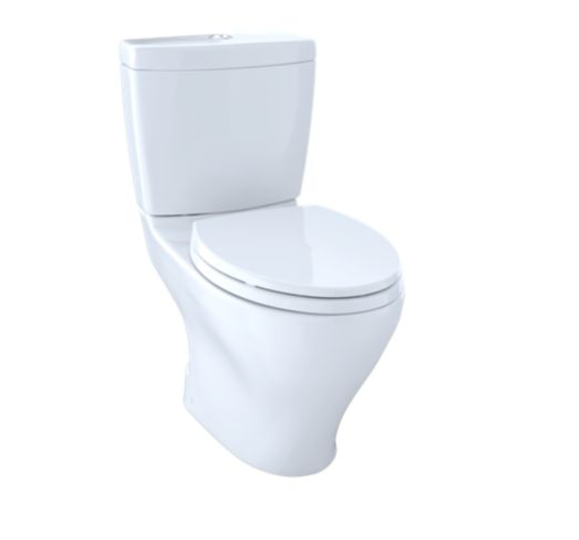 Aquia Dual Flush Two-Piece Toilet 1.6 Gpf & 0.9 Gpf Elongated Bowl