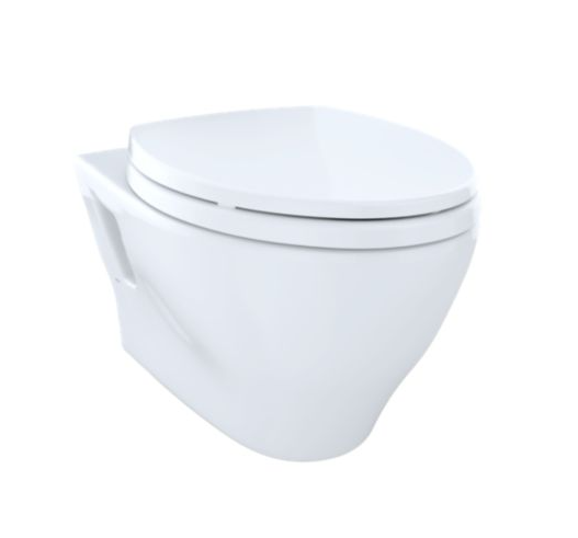Aquia Wall-Hung Dual-Flush Toilet 1.6 Gpf & 0.9 Gpf Elongated Bowl - Less Cefiontect