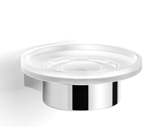 CANARIE Soap holder with mat glass dish 11x11.5x4.5cm