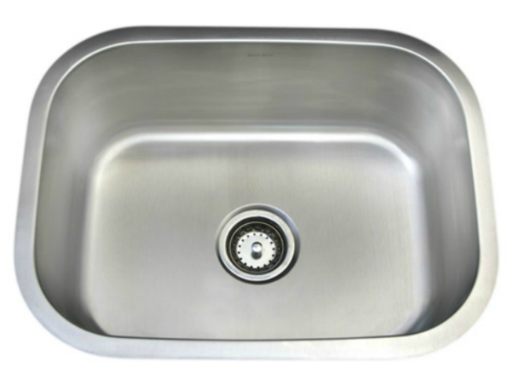 As106 23_ X 18_ X 9_  18G  Single Bowl Undermount Deluxe Stainless Steel Kitchen Sink
