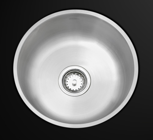 As107 17.64_ Diameter X 7_  22G  Single Bowl Undermount Builder Stainless Steel Bar Sink