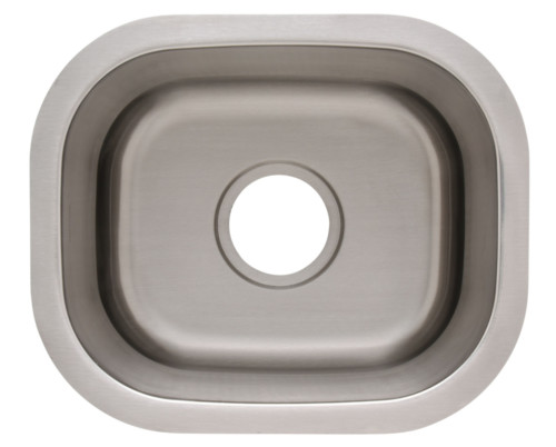 As124 15_ X 13_ X 7_  20G  Single Bowl Undermount Economy Stainless Steel Bar Sink