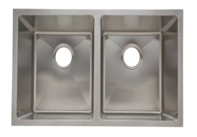 As330 31_ X 18_ X 9_/9_  18G  Double Bowl Undermount Legend Stainless Steel Kitchen Sink