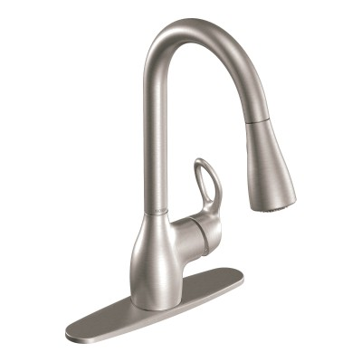 Kleo Spot Resist Stainless One-Handle High Arc Pulldown Kitchen Faucet