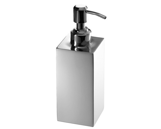 NEMESIA Soap dispenser with stainless steel dispenser 6x6x18cm