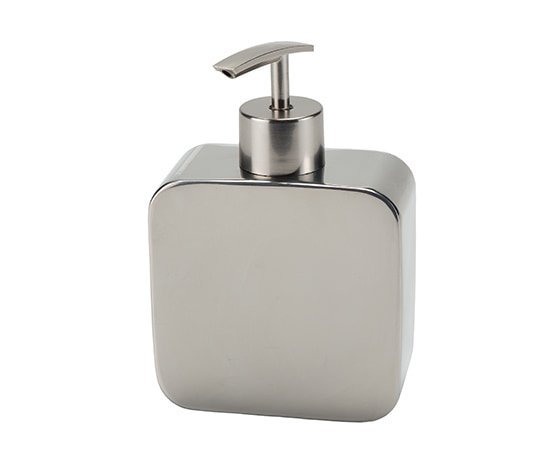 POLARIS Soap dispenser with plastic dispenser 10.2x4.5x14.9cm