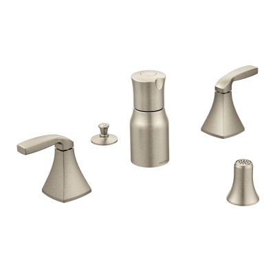 Voss Chrome Brushed Nickel Two-Handle Bidet Faucet