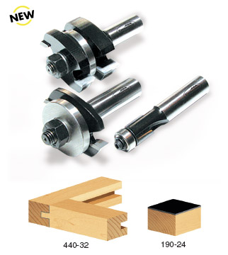 "Carbide Tipped 3-Piece Tongue & Groove Cabinet Door Making Sett 1/2"" Shank For 1/2""-1"" Material"