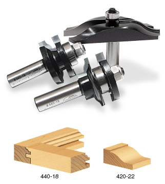 "Carbide Tipped 3-Piece Ogee Raised Panel Door Making Set 1/2"" Shank For 5/8""-7/8"" Material"