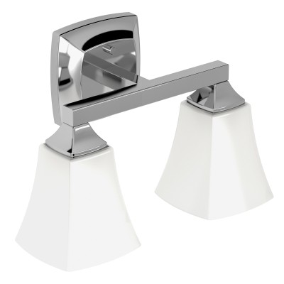 Voss Chrome Two Globe Bath Light