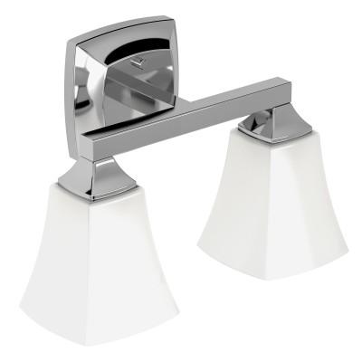 Voss Chrome Two Globe Bath Light
